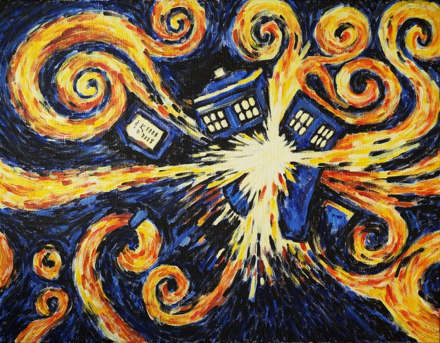 Exploding Tardis by Milada https://www.flickr.com/photos/cernaovec/25504534531